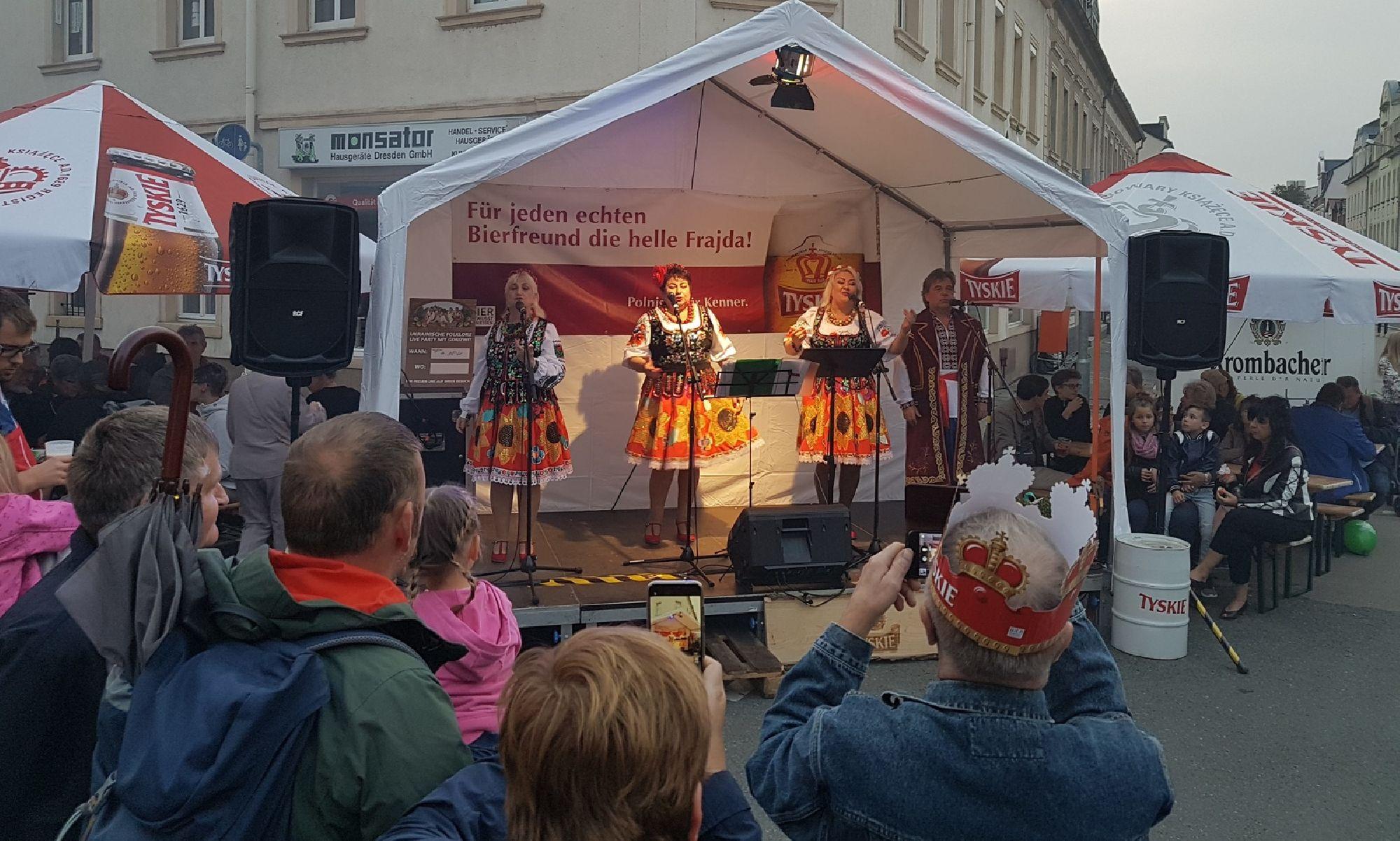 Auftritt in Riesa zum Tag der Sachsen