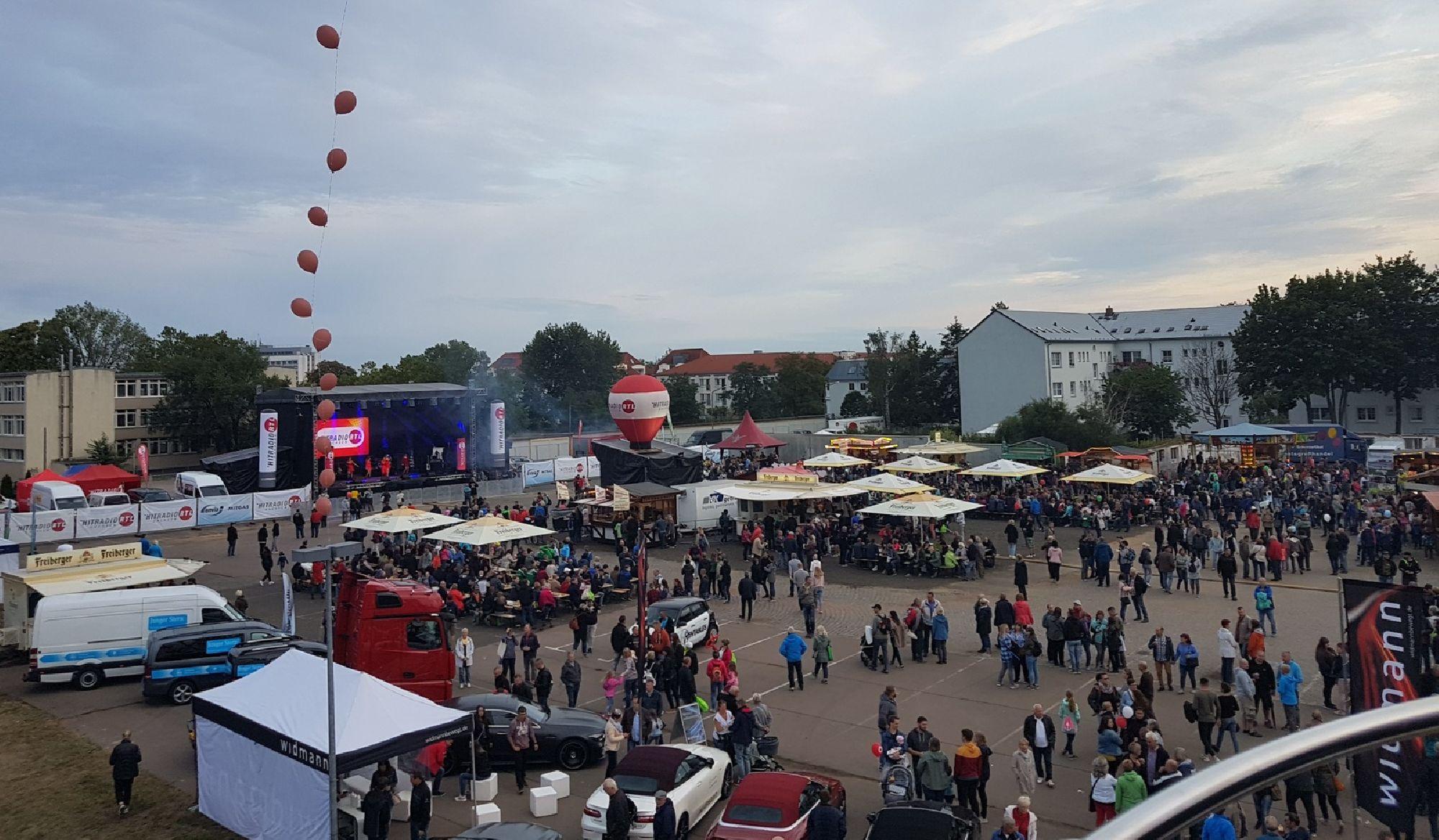 Festplatz zum Tag der Sachsen in Riesa