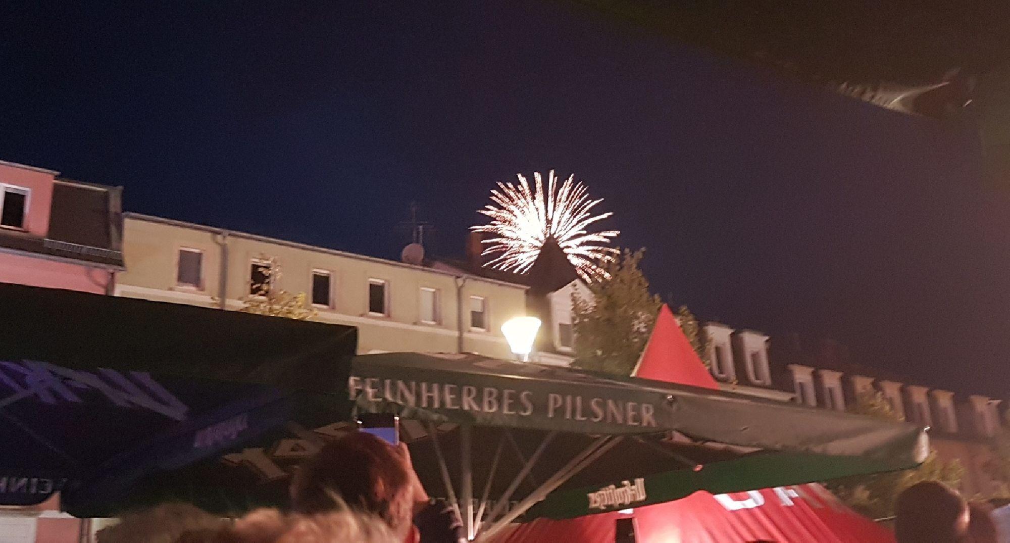Feuerwerk zum Tag der Sachsen