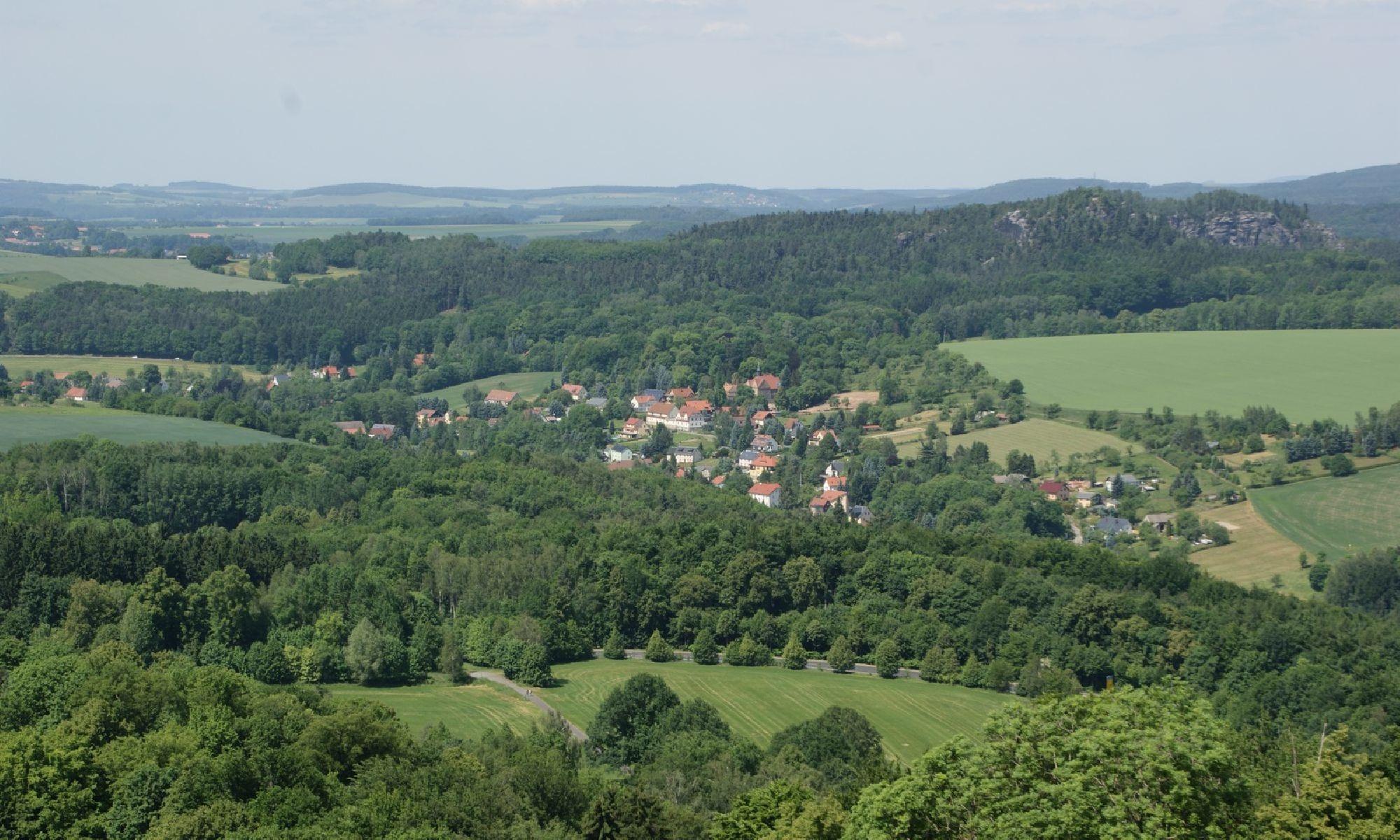 Blick ins Tal von der Festung Königstein