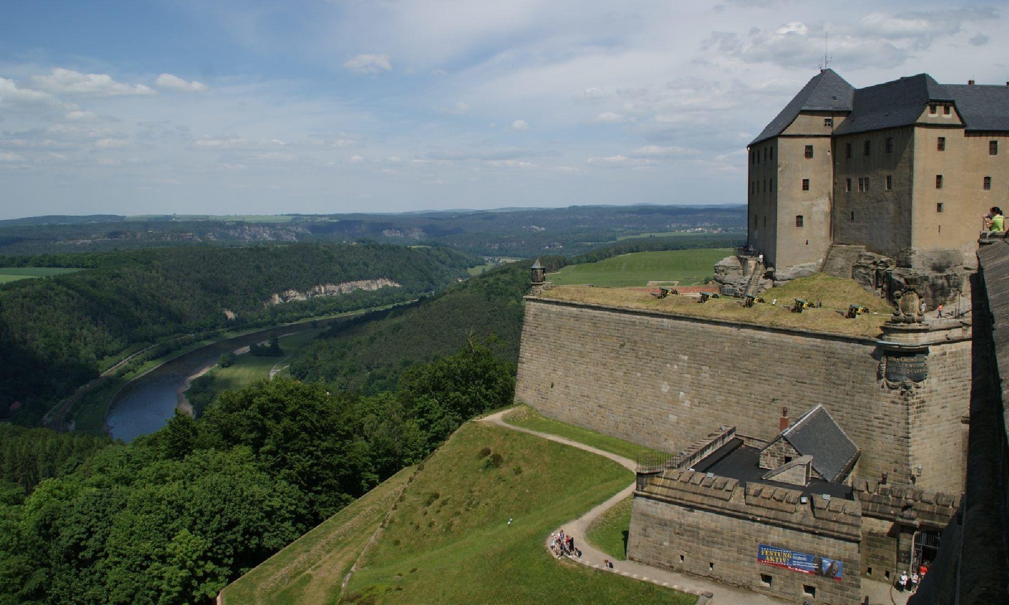 Festung Königstein und Elbe