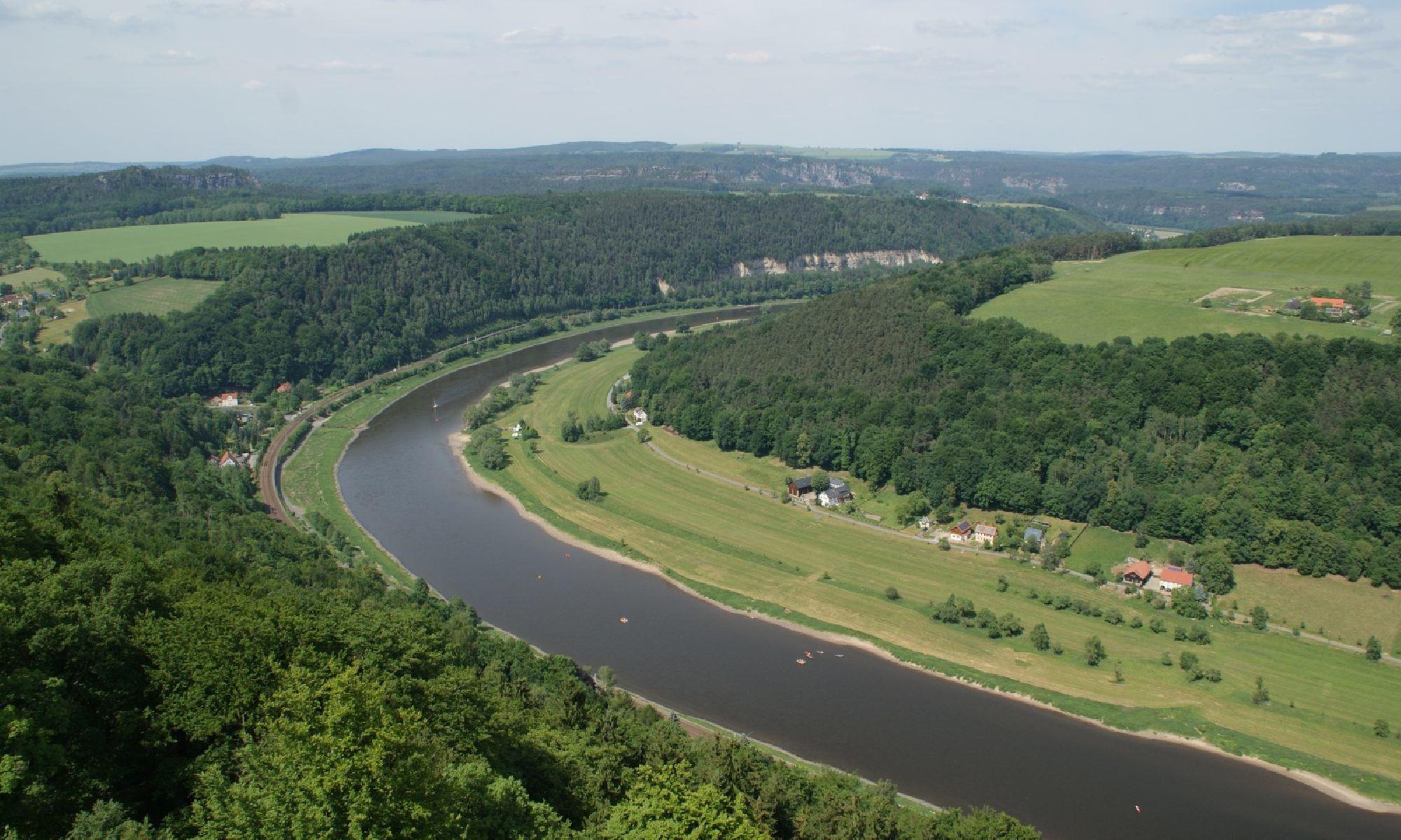 Die Elbe in der Sächischen Schweiz