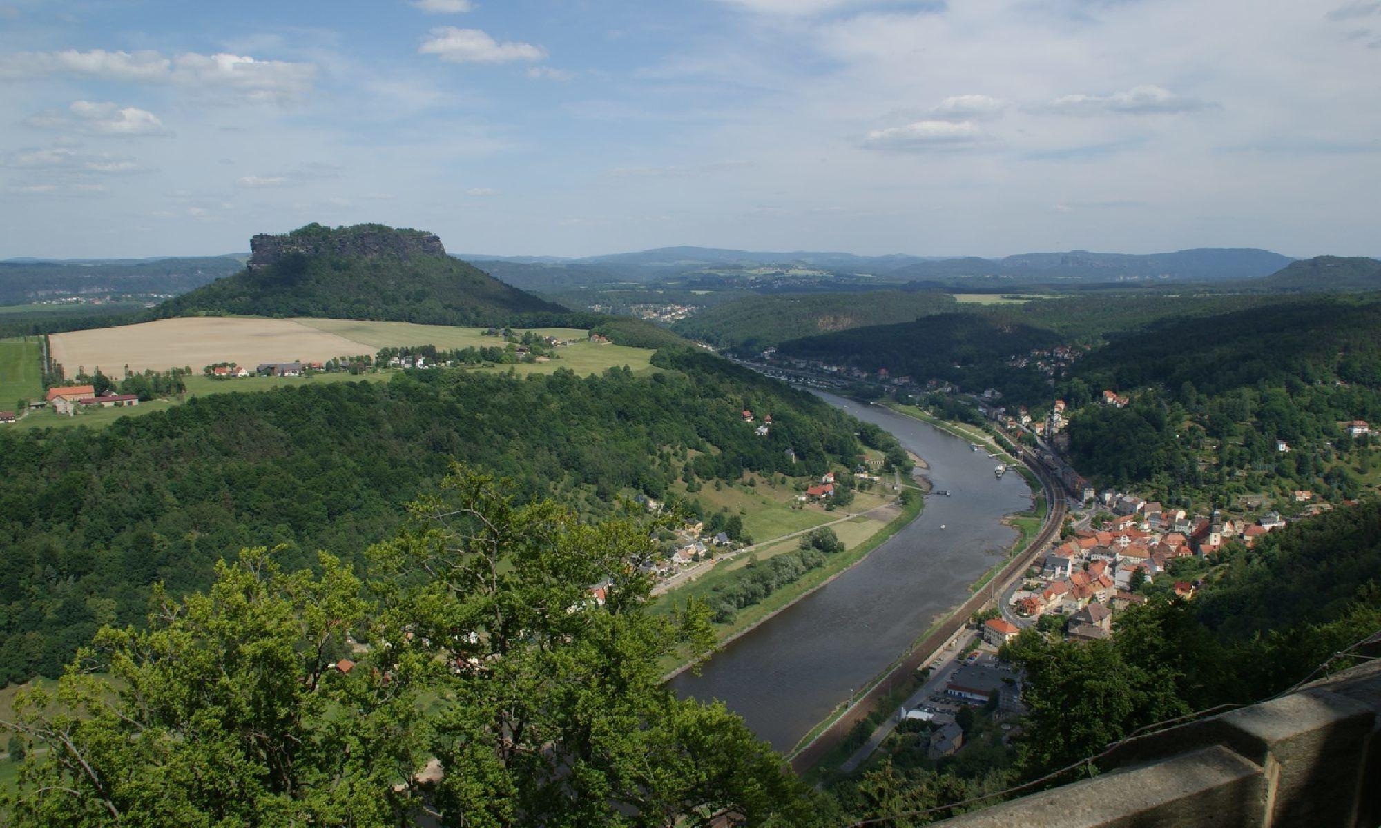 Blick auf Elbe und Lilienstein