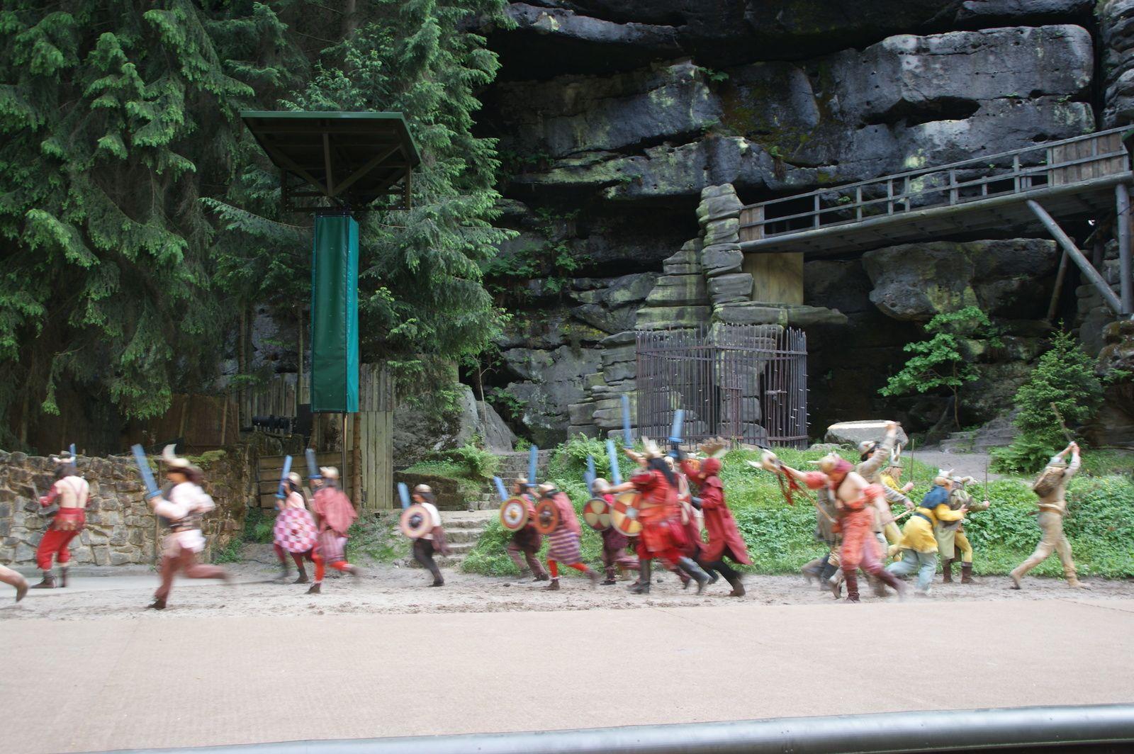 Vorführung auf der Felsenbühne Rathen