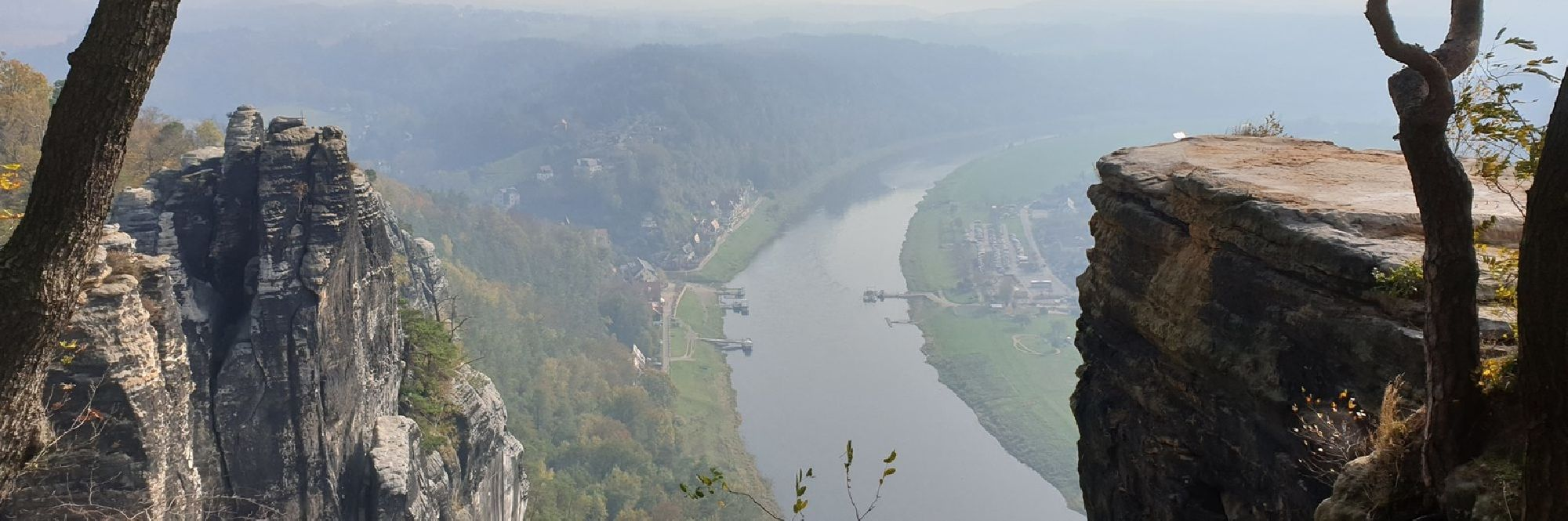 Blick zur Elbe