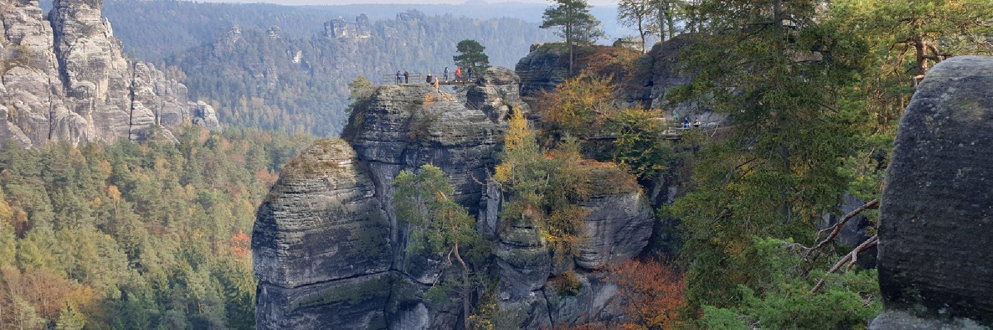Felsformationen Elbsandsteingebirge