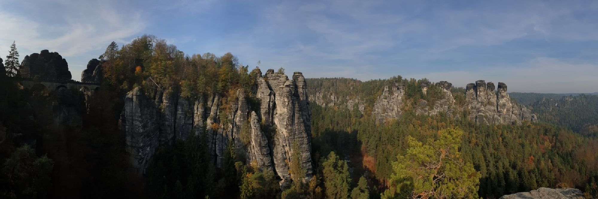 Panoramablick Bastei